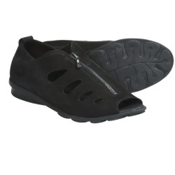 Arche Denzor Top Zip Sandals - Nubuck (For Women) in Black