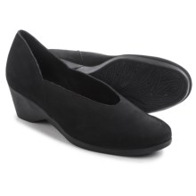 Arche Eona Wedge Shoes - Nubuck (For Women) in Black - Closeouts