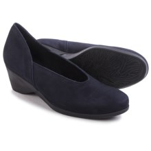 Arche Eona Wedge Shoes - Nubuck (For Women) in Navy - Closeouts