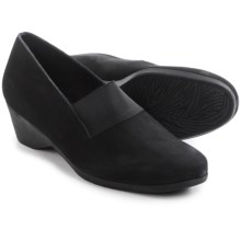 Arche Eonon Wedge Shoes - Nubuck, Slip-Ons (For Women) in Black Nubuck - Closeouts
