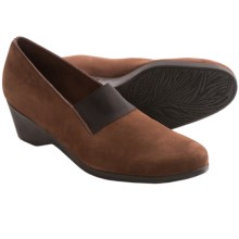 Arche Eonon Wedge Shoes - Nubuck, Slip-Ons (For Women) in Brown Nubuck - Closeouts