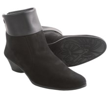 Arche Eylvir Back Zip Ankle Boots (For Women) in Black Nubuck - Closeouts