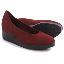 Arche Habba Wedge Shoes - Nubuck, Slip-Ons (For Women) in Red - Closeouts
