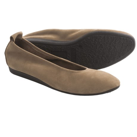 Arche Laius Nubuck Shoes - Slip-Ons (For Women) in Tan