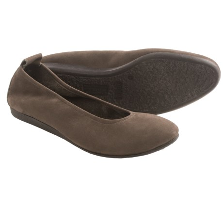 Arche Laius Nubuck Shoes - Slip-Ons (For Women) in Taupe
