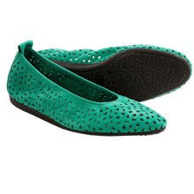 Arche Lilly Ballet Flats (For Women) in Jade Green Nubuck - Closeouts