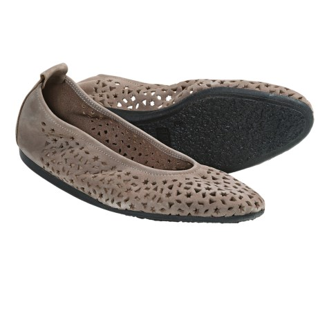 Arche Lilly Leather Flats (For Women) in Taupe Grey
