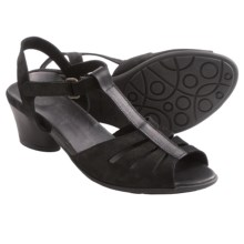Arche Molize Sandals (For Women) in Black Nubuck - Closeouts