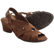 Arche Molyki Sling-Back Sandals (For Women) in Dark Brown Nubuck - Closeouts