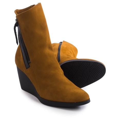 Arche Vitahe Wedge Boots - Nubuck (For Women) in Tan