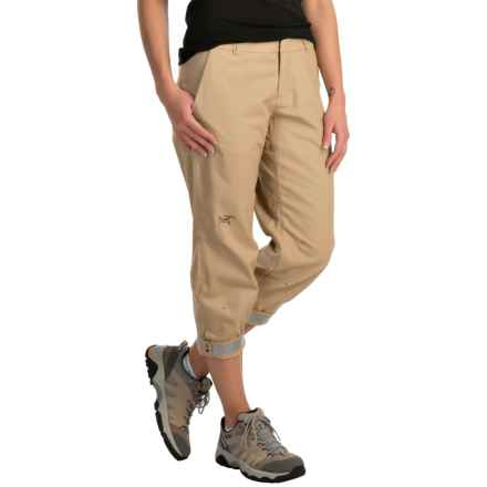 Arc'teryx A2B Chino Crop Pants (For Women) in Sahara Sand - Closeouts