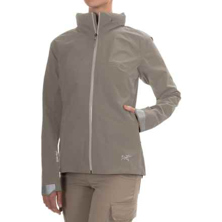 Arc'teryx A2B Commuter Gore-Tex® Jacket - Waterproof (For Women) in Chalk Stone - Closeouts
