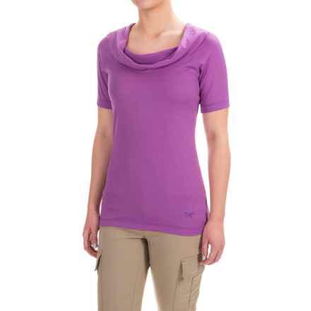 Arc'teryx A2B Cowl Neck Shirt - Short Sleeve (For Women) in Foxglove - Closeouts