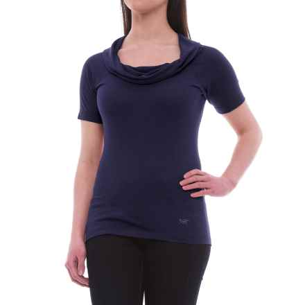 Arc'teryx A2B Cowl Neck Shirt - Short Sleeve (For Women) in Marianas - Closeouts