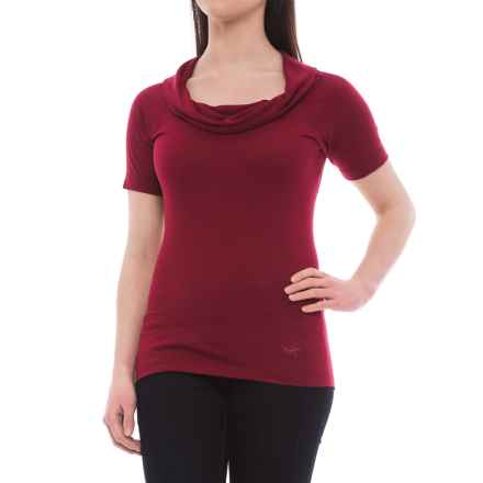 Arc'teryx A2B Cowl Neck Shirt - Short Sleeve (For Women) in Rosa - Closeouts