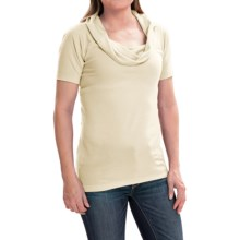 Arc'teryx A2B Shirt - Cowl Neck, Short Sleeve (For Women) in Vintage Ivory - Closeouts