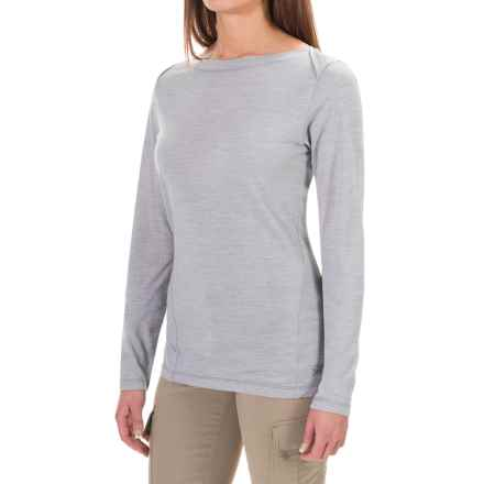Arc'teryx A2B T-Shirt - Wool Blend, Long Sleeve (For Women) in Argent - Closeouts