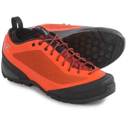 Arc'teryx Acrux FL Approach Shoes (For Men) in Bright Flame/Toolbox - Closeouts