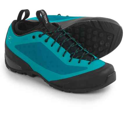 Arc'teryx Acrux FL Gore-Tex® Approach Shoes - Waterproof (For Women) in Light Aquamarine/Black - Closeouts