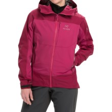Arc'teryx Alpha Comp Ice Climbing Jacket - Hooded (For Women) in Ruby Sunrise - Closeouts