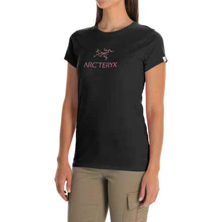 Arc'teryx Arcword Graphic T-Shirt - Short Sleeve (For Women) in Black - Closeouts