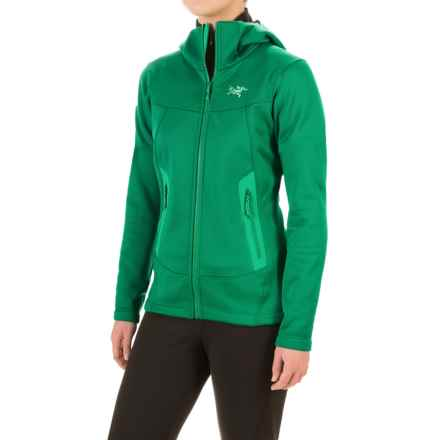 Arc'teryx Arenite Fleece Hoodie (For Women) in Emerald Jade - Closeouts