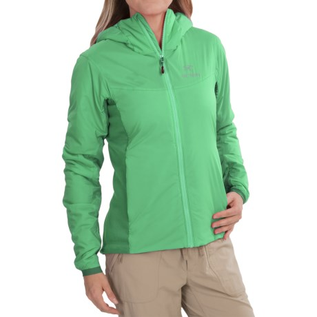 Arc'teryx Atom LT Hooded Jacket - Insulated (For Women) in Lime Fizz