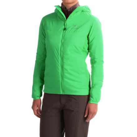 Arc'teryx Atom LT Hooded Jacket - Polartec® Power Stretch®, Insulated (For Women) in Limefizz - Closeouts