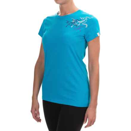 Arc'teryx Bird Trio Shirt - Short Sleeve (For Women) in Vultee Blue - Closeouts