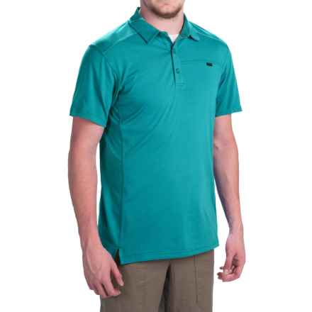 Arc'teryx Captive Polo Shirt - UPF 50+, Short Sleeve (For Men) in Blue Tetra - Closeouts