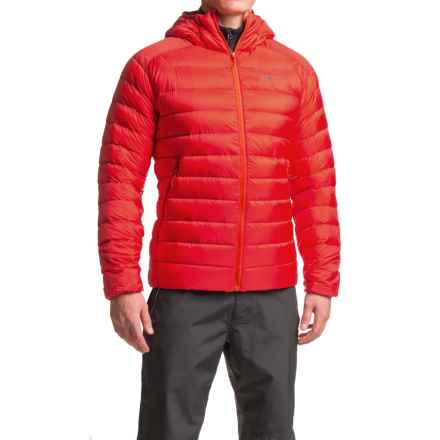 Arc'teryx Cerium LT Down Hooded Jacket - 850 Fill Power (For Men) in Cardinal - Closeouts