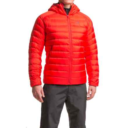 Arc'teryx Cerium LT Down Hooded Jacket - 850 Fill Power (For Men) in Magma - Closeouts