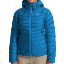 Arc'teryx Cerium LT Down Hooded Jacket - 850 Fill Power (For Women) in Aegean Blue - Closeouts