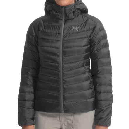 Arc'teryx Cerium LT Down Hooded Jacket - 850 Fill Power (For Women) in Black - Closeouts