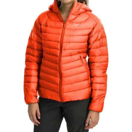 Arc'teryx Cerium LT Down Hooded Jacket - 850 Fill Power (For Women) in Fiesta - Closeouts