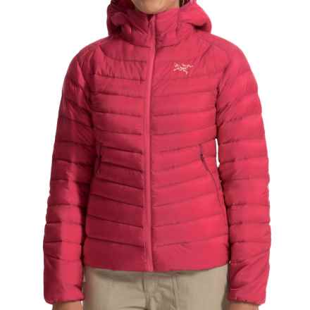 Arc'teryx Cerium LT Down Hooded Jacket - 850 Fill Power (For Women) in Pink Guava - Closeouts