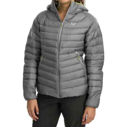 Arc'teryx Cerium LT Down Hooded Jacket - 850 Fill Power (For Women) in Sterling Silver - Closeouts