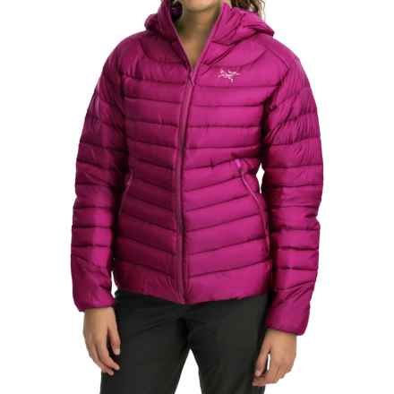 Arc'teryx Cerium LT Down Hooded Jacket - 850 Fill Power (For Women) in Violet Wine - Closeouts