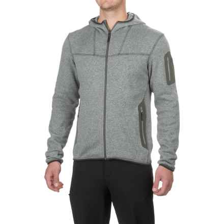 Arc'teryx Covert Fleece Hooded Jacket (For Men) in Argent - Closeouts