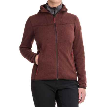 Arc'teryx Covert Fleece Hooded Jacket (For Women) in Cherry Chocolate - Closeouts