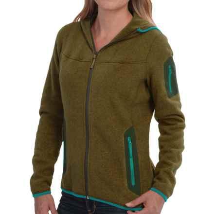 Arc'teryx Covert Fleece Hooded Jacket (For Women) in Dark Moss - Closeouts