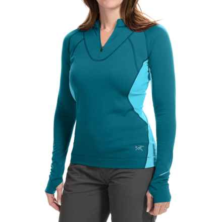 Arc'teryx Cyclic Shirt - Zip Neck, Long Sleeve (For Women) in Calypso - Closeouts
