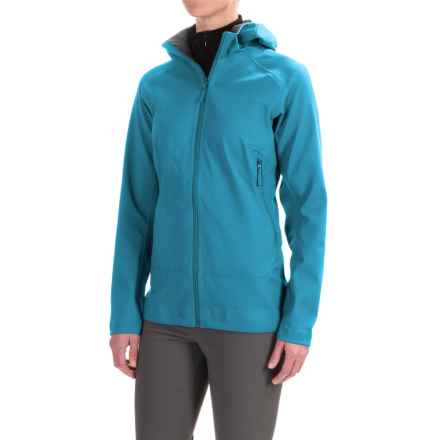 Arc'teryx Eldora Hooded Soft Shell Jacket - Full Zip (For Women) in Cyan Blue - Closeouts