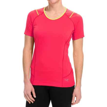 Arc'teryx Ensa Shirt - Short Sleeve (For Women) in Tourmaline - Closeouts