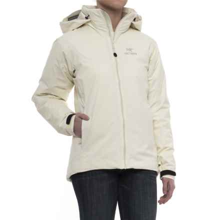 Arc'teryx Fission Severe Weather Gore-Tex® Jacket - Waterproof, Insulated (For Women) in Vintage Ivory - Closeouts