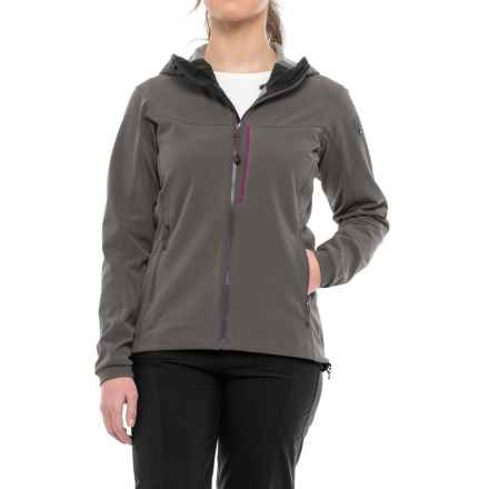 Arc'teryx Gamma MX Hooded Jacket - Soft Shell (For Women) in Nickel - Closeouts