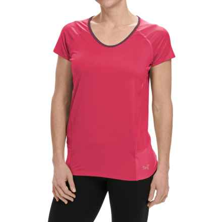 Arc'teryx Kapta Shirt - V-Neck, Short Sleeve (For Women) in Pink Tulip - Closeouts