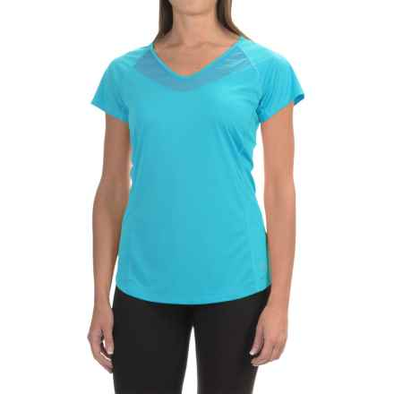 Arc'teryx Kapta Shirt - V-Neck, Short Sleeve (For Women) in Vultee Blue - Closeouts
