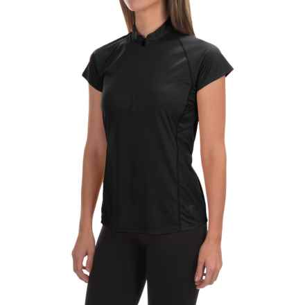 Arc'teryx Kapta Zip Neck Shirt - Short Sleeve (For Women) in Carbon Copy - Closeouts