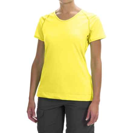 Arc'teryx Mentum T-Shirt - Short Sleeve (For Women) in Candied Lemon - Closeouts